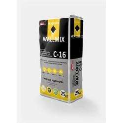 Штукатурка цементно-известковая для газоблока для машинного нанесения Wallmix C16 25 кг Картинка 1000101032