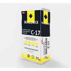 Штукатурка цементно-известковая лёгкая для машинного нанесения Wallmix C17 25 кг Картинка 1000101033