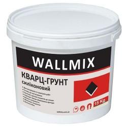 Силиконовая грунтующая краска кварц Wallmix 10л-15 кг