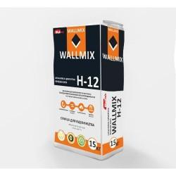 Шпаклёвка цементная финишная белая Wallmix H12 15 кг