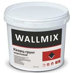 Грунтующая краска с кварцевым наполнителем для повышения адгезии к основанию Wallmix кварц 5л-7,5кг