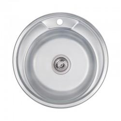 Кухонна мийка Lidz 490-A Decor 0,6 мм LIDZ490А06DEC