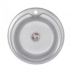Кухонна мийка Lidz 510-D Decor 0,8 мм LIDZ510DDEC