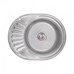 Кухонна мийка Lidz 6044 Satin 0,6 мм LIDZ604406SAT