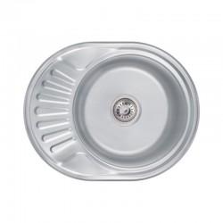 Кухонна мийка Lidz 6044 Decor 0,6 мм LIDZ604406DEC