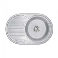 Кухонна мийка Lidz 7750 Decor 0,8 мм LIDZ7750DEC