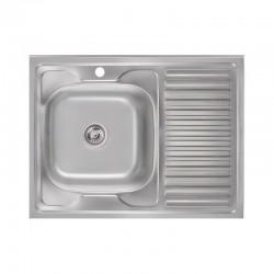 Кухонная мойка Lidz 6080-L Satin 0,6 мм LIDZ6080L06SAT