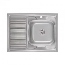 Кухонная мойка Lidz 6080-R Satin 0,6 мм LIDZ6080R06SAT