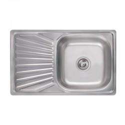 Кухонна мийка Lidz 7848 Satin 0,8 мм LIDZ7848SAT