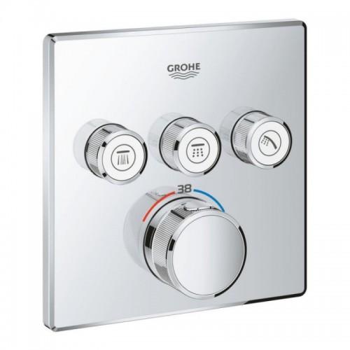 Внешняя часть термостатического смесителя для ванны Grohe Grohtherm SmartControl 29126000 Картинка 10020714