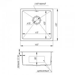 Кухонная мойка Imperial D4645 Handmade 1.2/1.2 mm