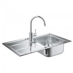 Набор Grohe мойка кухонная K400 31570SD0 + смеситель Concetto 32663001