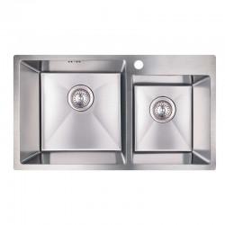 Кухонная мойка двойная Imperial S7843 Handmade 3.0/1.0 mm  (IMPS7843H12)
