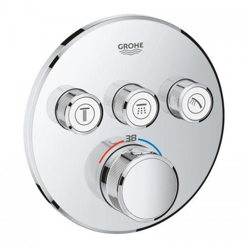 Внешняя часть термостатического смесителя для ванны Grohe Grohtherm SmartControl 29121000 Картинка 10020713