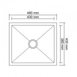 Кухонная мойка Imperial D4843BR PVD bronze Handmade 2.7/1.0 mm