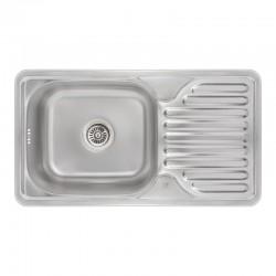 Кухонная мойка Lidz 7642 Micro Decor 0,8 мм LIDZ764208MICDEC