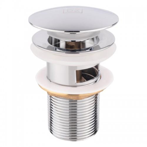 Донный клапан для раковины Lidz CRM -47 00 003 00 с переливом Картинка 100202817