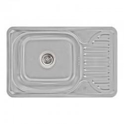 Кухонна мийка Lidz 6642 Micro Decor 0,8 мм LIDZ664208MICDEC