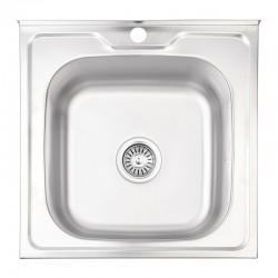 Кухонна мийка Lidz 5050 Decor 0,8 мм LIDZ5050DEC08