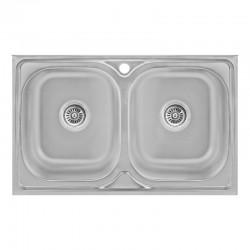 Кухонна мийка Lidz 5080 Decor 0,8 мм LIDZ5080DEC08