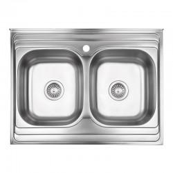 Кухонная мойка Lidz 6080 Decor 0,8 мм LIDZ6080DEC08