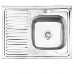 Кухонная мойка Lidz 6080-R Decor 0,8 мм LIDZ6080RDEC08