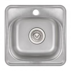 Кухонна мийка Lidz 3838 Satin 0,6 мм LIDZ3838POL06