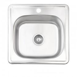 Кухонна мийка Lidz 4848 Satin 0,6 мм LIDZ4848SAT06