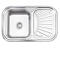 Кухонная мойка Lidz 7549 Satin 0,8 мм LIDZ7549SAT8