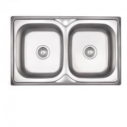 Кухонная мойка Lidz 7948 Satin 0,8 мм LIDZ7948SAT8