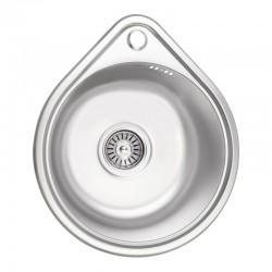 Кухонна мийка Lidz 4539 Micro Decor 0,8 мм LIDZ4539MDEC