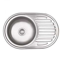 Кухонна мийка Lidz 7750 Micro Decor 0,8 мм LIDZ7750MDEC
