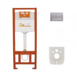 Набір інсталяція 4 в 1 Qtap Nest ST з квадратної панеллю змиву QT0133M425M06029SAT