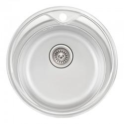 Кухонная мойка Qtap D510 Satin 0,8 мм QTD510SAT08