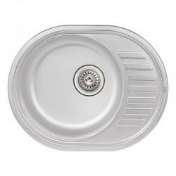Кухонна мийка Qtap 5745 Satin 0,8 мм QT5745SAT08