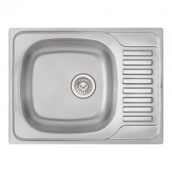 Кухонная мойка Qtap 6550 Satin 0,8 мм QT6550SAT08