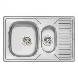 Кухонная мойка Qtap 7850-B Micro Decor 0,8 мм QT7850BMICDEC08