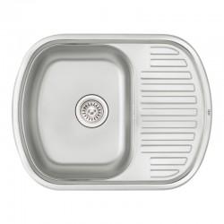 Кухонная мойка Qtap 6349 Satin 0,8 мм QT6349SAT08