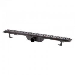 Трап линейный Qtap Dry FF304-800MBLA с нержавеющей решеткой 800х73 Картинка 100201471