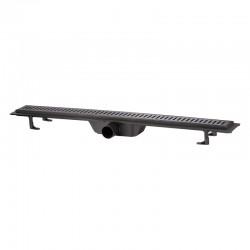 Трап линейный Qtap Dry FF304-900MBLA с нержавеющей решеткой 900х73 Картинка 100201472