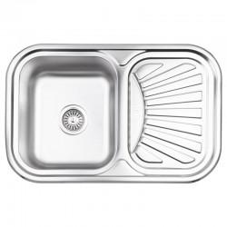 Кухонна мийка Lidz 7549 Micro Decor 0,8 мм LIDZ7549MICDEC