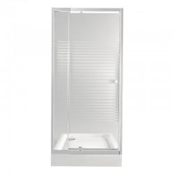 Набор Qtap дверь в нишу Pisces WHI208-9.CP5 + поддон Unisquare 308815