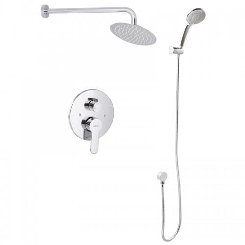 Вбудована душова система зі змішувачем і тропич. душем ZERIX LR2403-2 LL1210 Картинка 100204279
