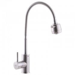 Змішувач для кухні з нерж.стали SUS304 ZERIX SUS-011 REFLECTOR ZX3125