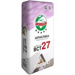Шпаклевка финишная Anserglob BСТ-27 серая 20кг