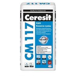Клей для керамограніту і натурального каменю Ceresit CM 117 25кг