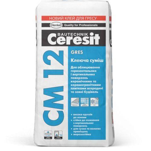 Клей для напольных плит и керамогранита Ceresit CM 12 25кг Картинка 70506003
