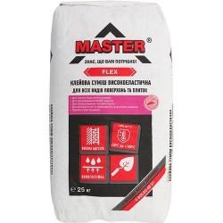 Клей для плитки и керамогранита Master Flex 25кг