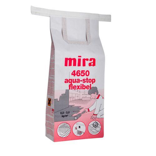 Гидроизоляционная смесь Mira 4650 aqua-stop flex 15кг Картинка 71001003