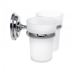 Держатель для щеток с 2 стаканами настенный ZERIX LR1508 LL1410